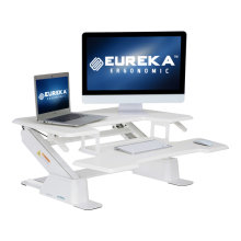 Eureka Ergonomic Height-Adjustable Standing Desk, 36-Inch Wide, White, Unique Patented Design