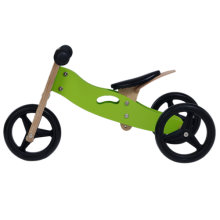 Labebe Kids Wooden Balance Bike with Adjustable Seat (Green)