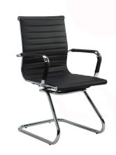 Wahson Mid Back Sled Base Home Office Chair with Armrest, Black