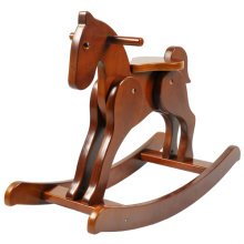 Labebe Retro Wooden Rocking Horse - Dark Brown