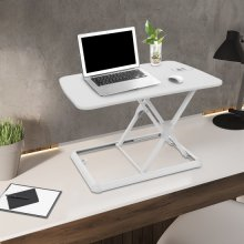 "FlexiSpot Laptop Desk Riser - Portable 26"" Standing Desk Sturdy Aluminum Frame Sit Stand up Converter for Laptop Notebook,White"