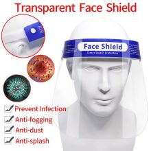 Safety Face Shield, Reusable Protective Full Face Shield Anti Fog Safety Visor Eye Face Cover Protective Shields Women Men