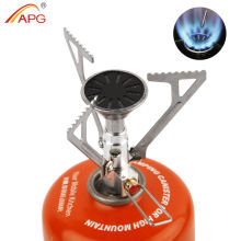 APG Folding Outdoor Gas Stove Ultralight Pocket Picnic Cooking Gas Burner Survival Furnace Camping Stove 48G