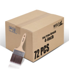 [Group Buying] WOLF Beta Pro Series, Flat Trim Brush, 4-inch 72 Pcs/Carton