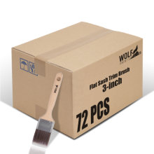 [Group Buying] WOLF Beta Pro Series, Flat Sash Trim Brush, 3-inch 72 Pcs/Carton