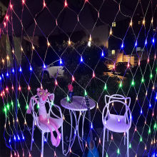 Net Lights Net Mesh 13FT X 13FT 70 Tungsten Filament Lamp Lights for Wedding Home Garden Xmas Party Valentine Christmas Decor Color