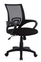 Wahson Mid Back Mesh Office Task Chair with Tilt Mechanism, Nylon Base,Black