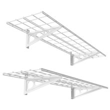 [Free Shipping] Fleximounts 2-Pack 1x4ft 12-Inch-by-48-Inch Wall Shelf Garage Storage Rack Wall Mounted Floating Shelves, White