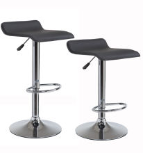 [Free Shipping] Wahson Swivel Bar Stools Counter Height 25-33 inch, Leather Seat, Set of 2, Black