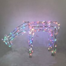 3D 40 Functions Eating Deer, 2ft 150 LED Color Changing