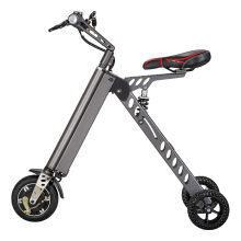 Freego 3 Wheel Folding Electric Bike, Aircraft Aluminum Alloy Foldable Electric Bicycle, 25 lbs Ultra Light, with LCD Display - Gray
