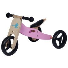 [Free Shipping] Labebe Kids Wooden Balance Bike with Adjustable Seat (Pink)