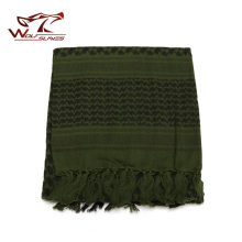 Hunting Apparel Accessory 100% Cotton Thick Muslim Hijab Tactical Desert Arabic Scarf Arab Scarves Men Winter Windproof