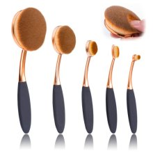 [Free Shipping] Beauty Kate 5 PCS Oval Makeup Brush Set Professional Cosmetic Brushes (Rose Gold Black)