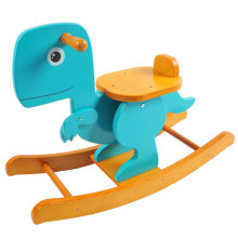 [Free Shipping] Labebe Wooden Rocking Horse Green/Blue Dinosaur for 6 Months - 3 Years Old Baby Girls & Boys Toddler, ASTM/Ce Safety Certified, Creative Birthday Gift