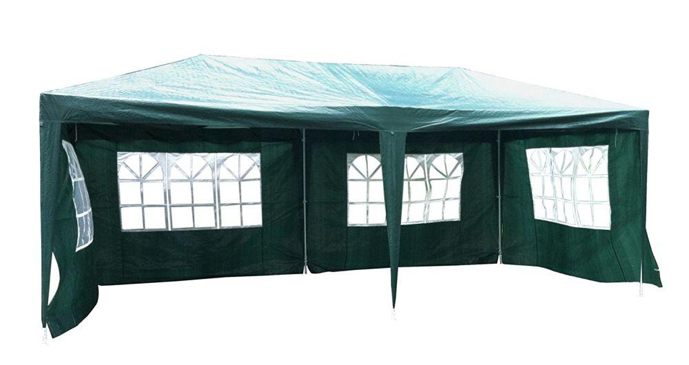 Shop for Green Garden 10 x 20 Feet Outdoor Patio Party Canopy Tent Wedding Outdoor Tent Heavy duty Gazebo Pavilion for Waterproof 4 Window Side Walls at the ...  sc 1 st  CROV.com & Shop for Green Garden 10 x 20 Feet Outdoor Patio Party Canopy Tent ...