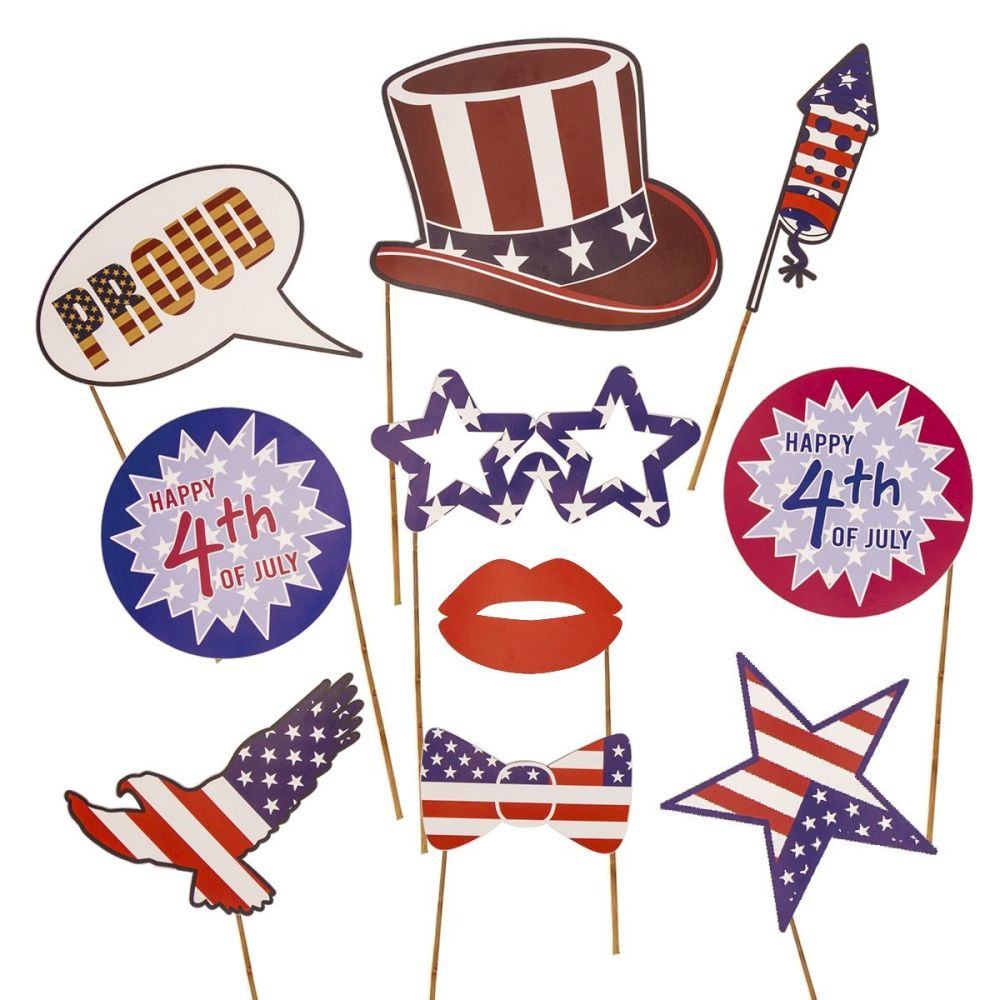Shop For Kodoo 39 Pcs 4th Of July Photo Booth Props Patriotic Party