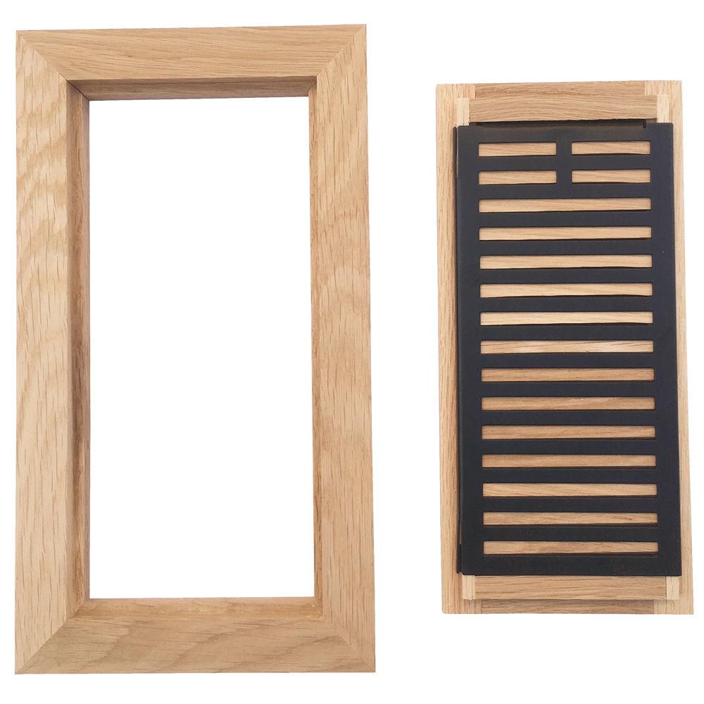 Homewell Maple Wood Floor Register Vent, Flush Mount with Frame ...
