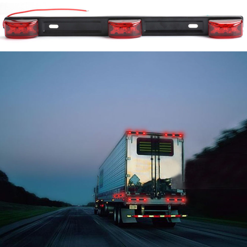 Shop for new sun id light bar 3 light 9 led red clearance marker shop for new sun id light bar 3 light 9 led red clearance marker light indicator for truck boat trailer tail lamp at wholesale price on crov aloadofball Image collections