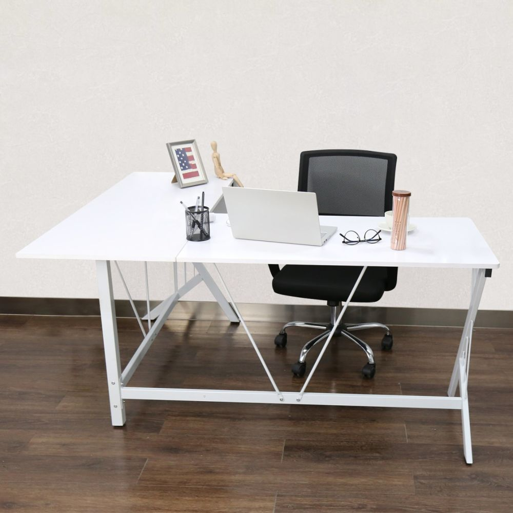 Shop for kinbor l shape corner computer office desk table workstation home office 2 piece white at wholesale price on crov com