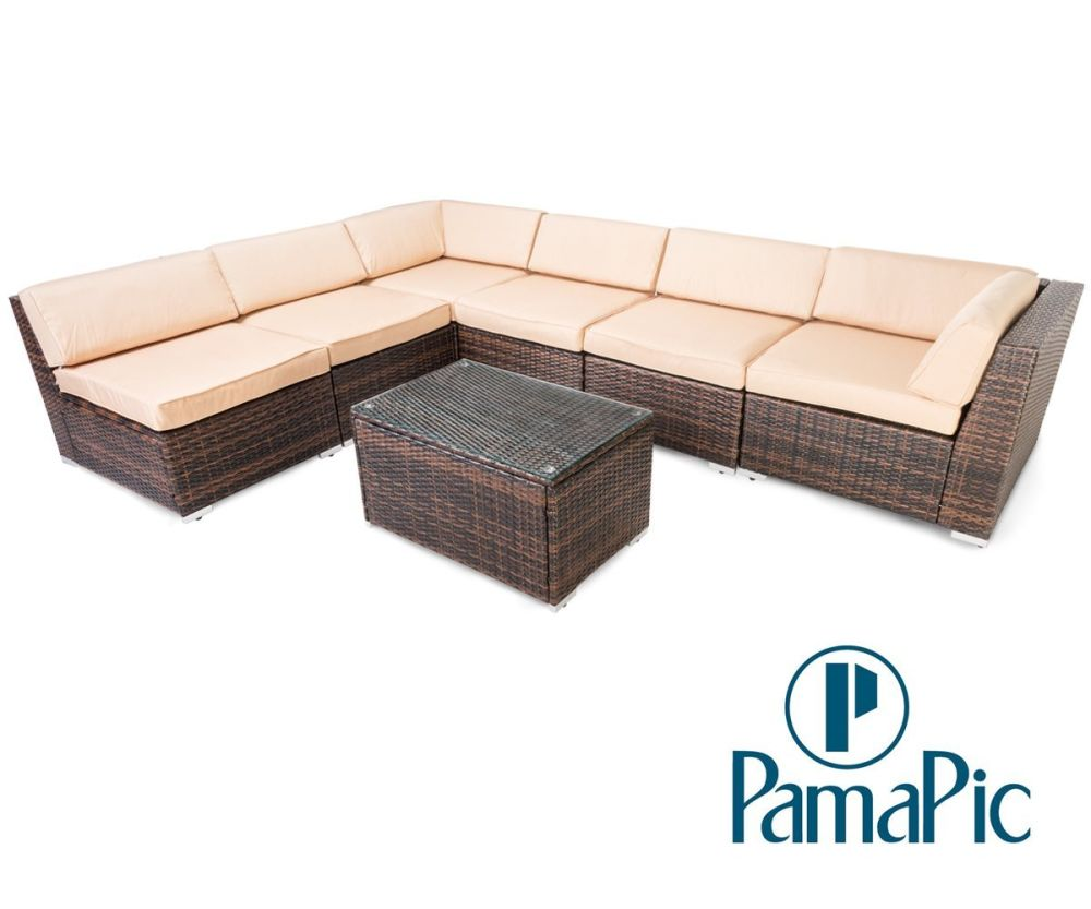 Shop for Pamapic 7PCS Outdoor Patio Furniture Set Rattan Wicker Sofa ...