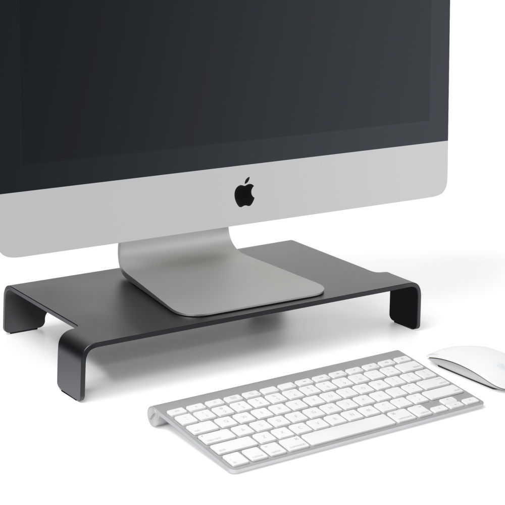 For Viozon Monitor Stand Aluminum Computer Riser Steady Organizer Macbook Laptop Imac Pro Google Chromebook Pc Tv Screen Printer