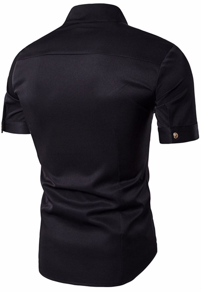 Shop for Whatlees Mens Short Sleeve Extra Long Embroidery Design ...