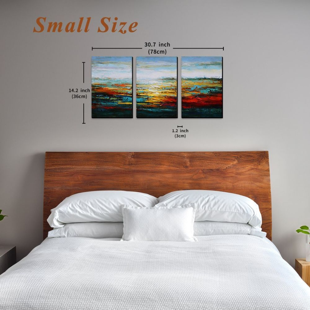 Merveilleux Shop For Asmork Canvas Oil Paintings   Abstract Wall Art   Landscape  Painting   Home Decor Ready To Hang 100% Hand Painted Artwork   Best Buy  Gift  Set Of 3 ...