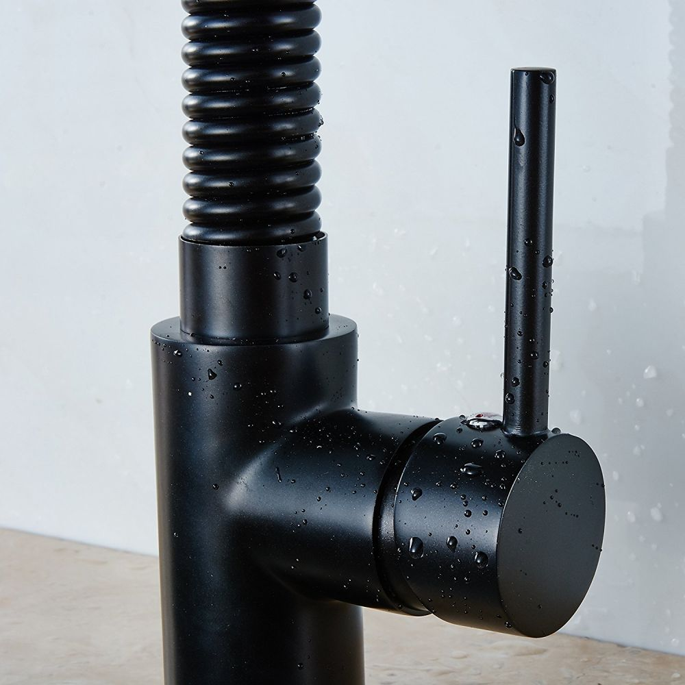Shop for FLG Black Kitchen Sink Faucet with Pull Out Down Spring ...