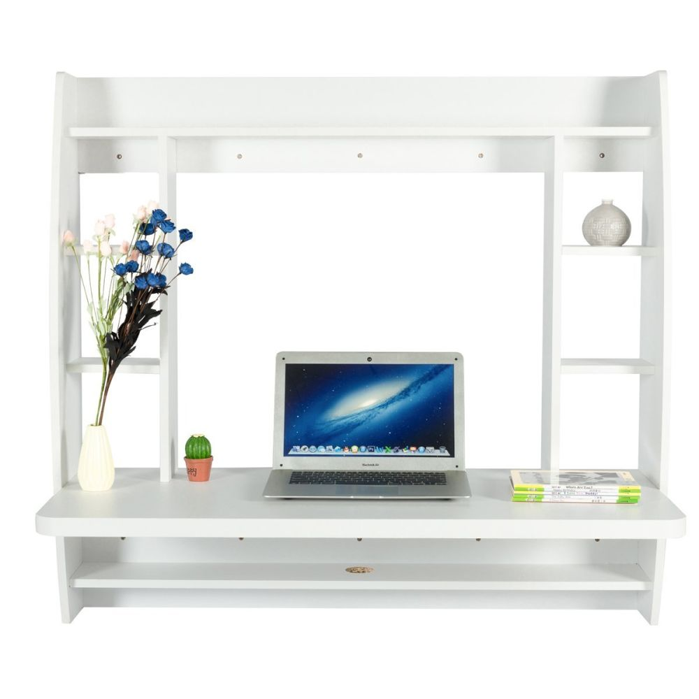 shop floating product storage buy rakuten yescomusa capacity mounted with desk weight white wall