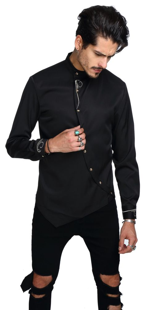 eebe8c0f0 WHATLEES Mens Hipster Casual Slim Fit Long Sleeve Button Down Dress ...