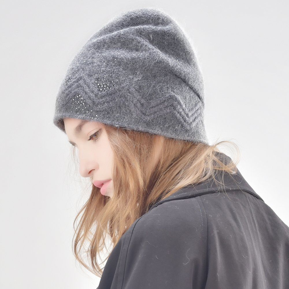 31d59c7f65cc20 Shop for FURTALK winter wool women winter hat rabbit fur hats with double  ling skullies beanie for girls B008 at Wholesale Price on Crov.com