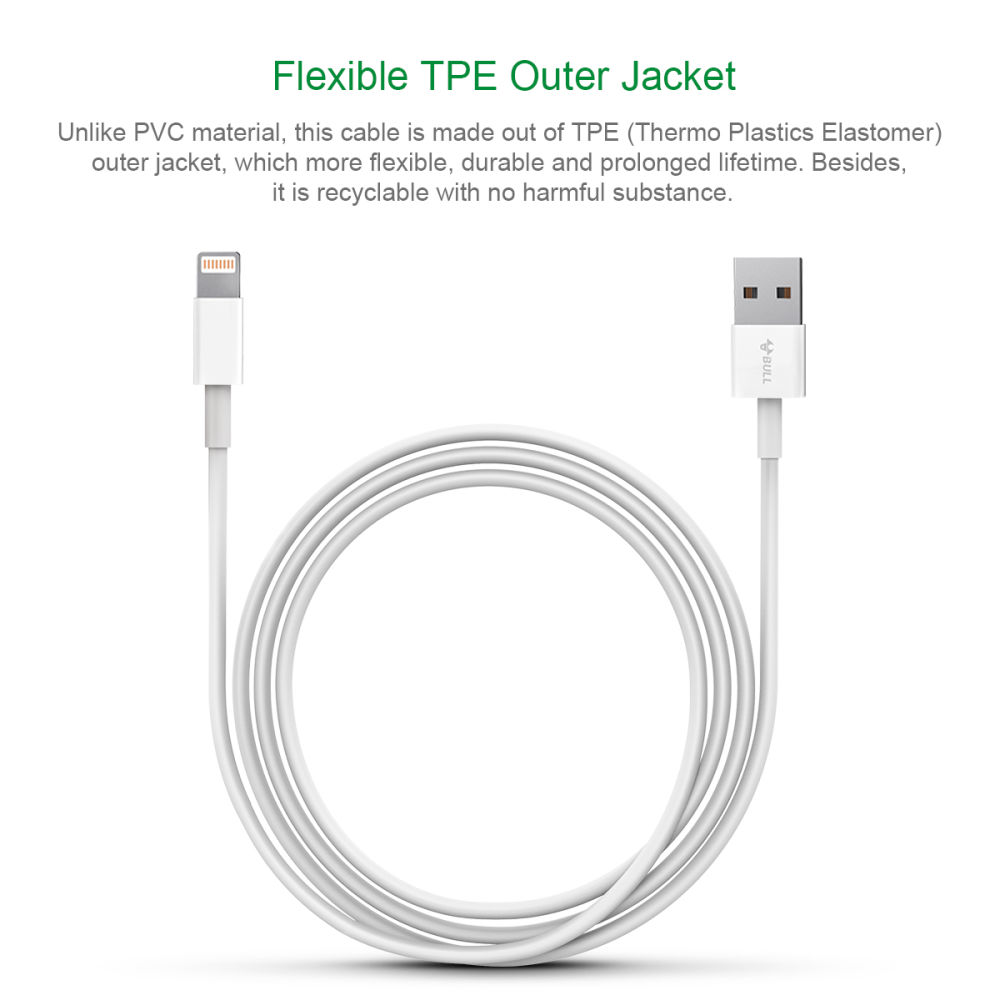 Shop For Bull Lightning To Usb Cable Apple Mfi Certified 3ft Ethernet Wiring Diagram Ipod Charging And Syncing Iphone 7 Plus 6s 6