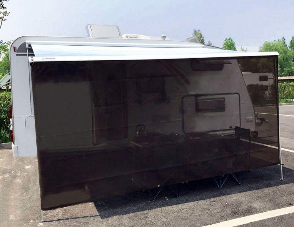 Tentproinc Rv Awning Sun Shade 6 X15 Brown Mesh Screen Blocker Complete Kits Drop Motorhome Trailer Tarp Canopy Shelter 3 Years Limited Warranty 1