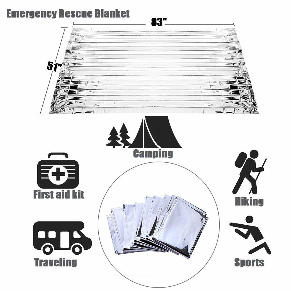 Shop for RISEN Emergency Blankets(5-Pack) with Waterproof Silver