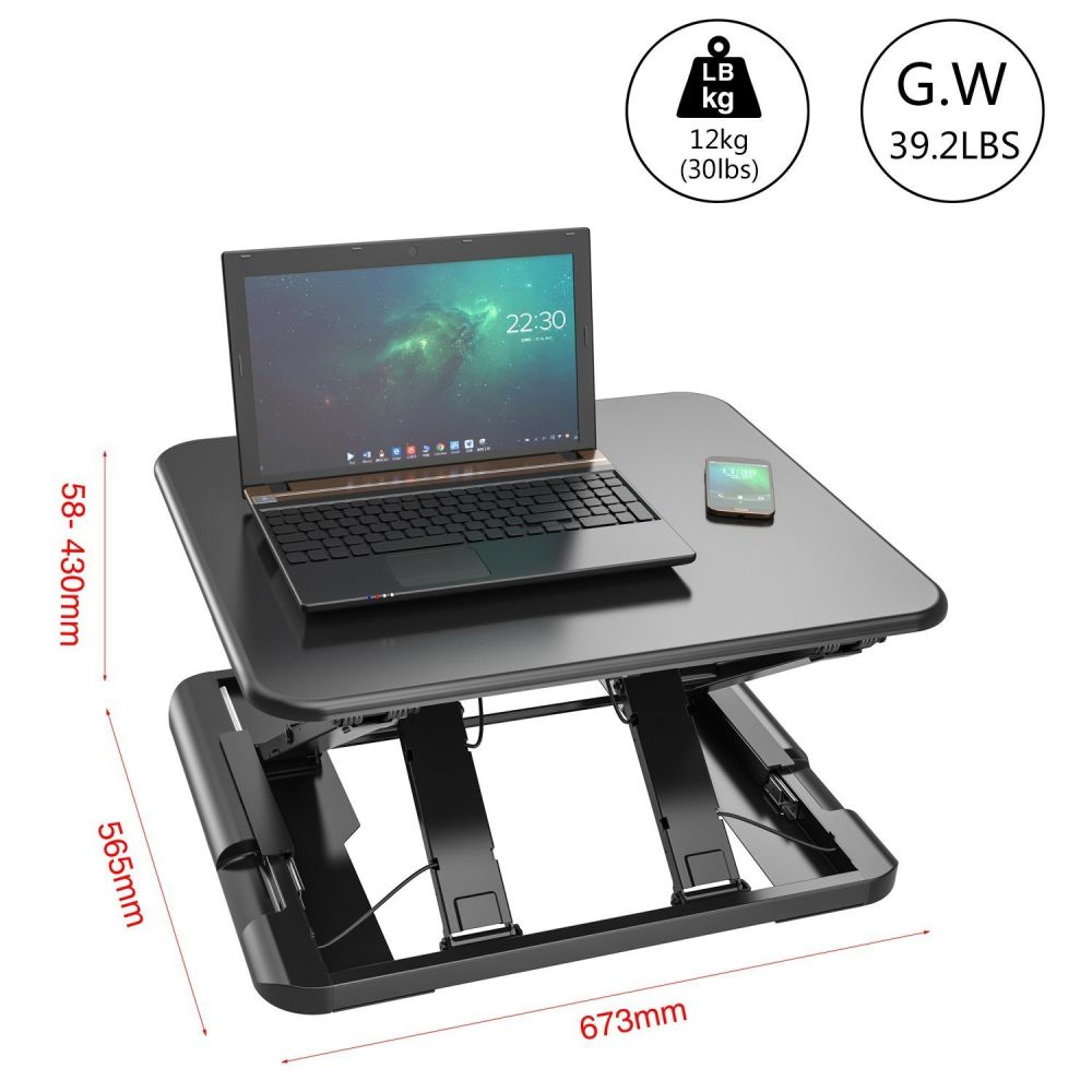 Adjustable Sit Stand Up Desktop Desk
