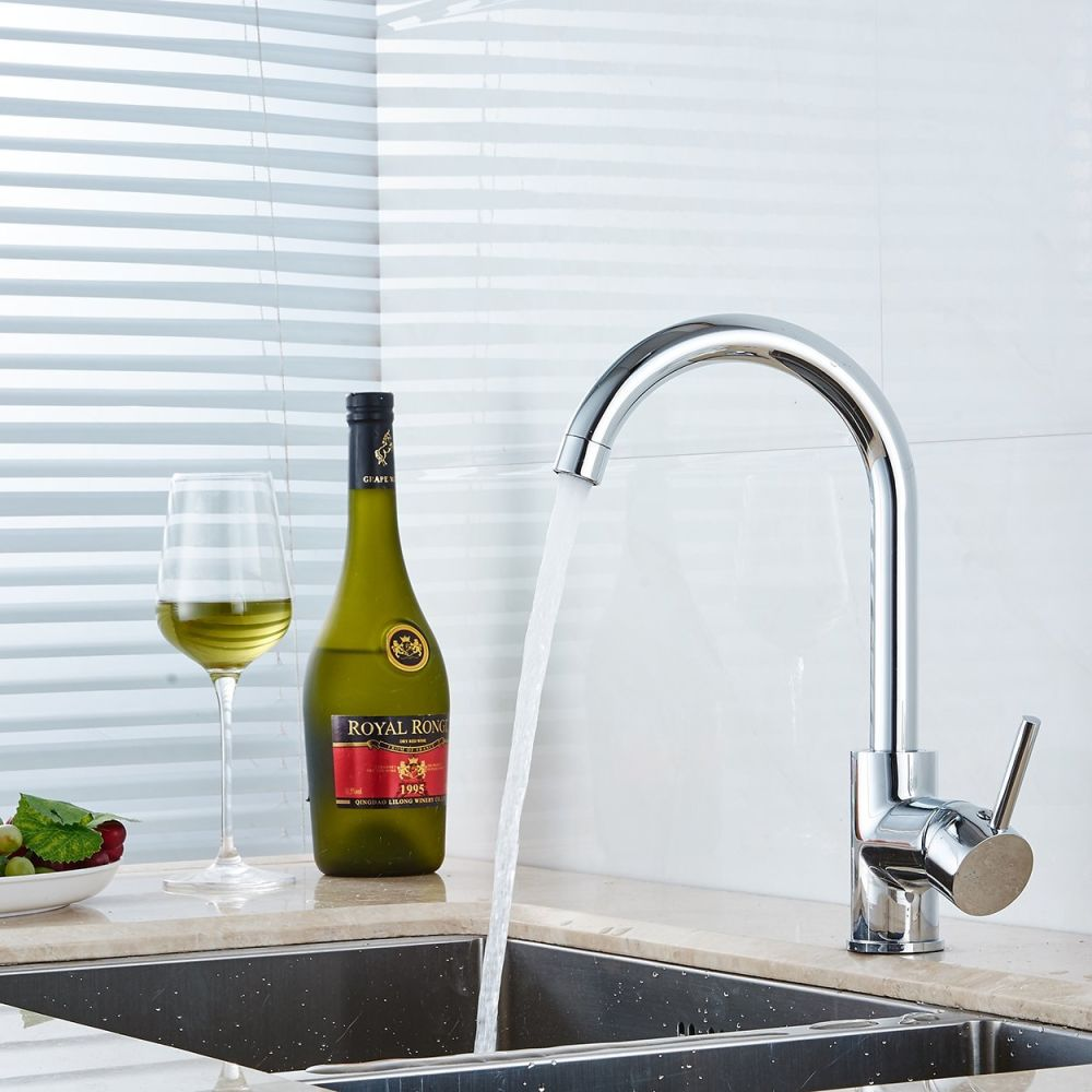 Shop For FLG Contemporary Compact Kitchen Sink Faucet 12 Inch Tall Mixer  Taps Bar Sink Faucet Chrome 100058 At Wholesale Price On Crov.com