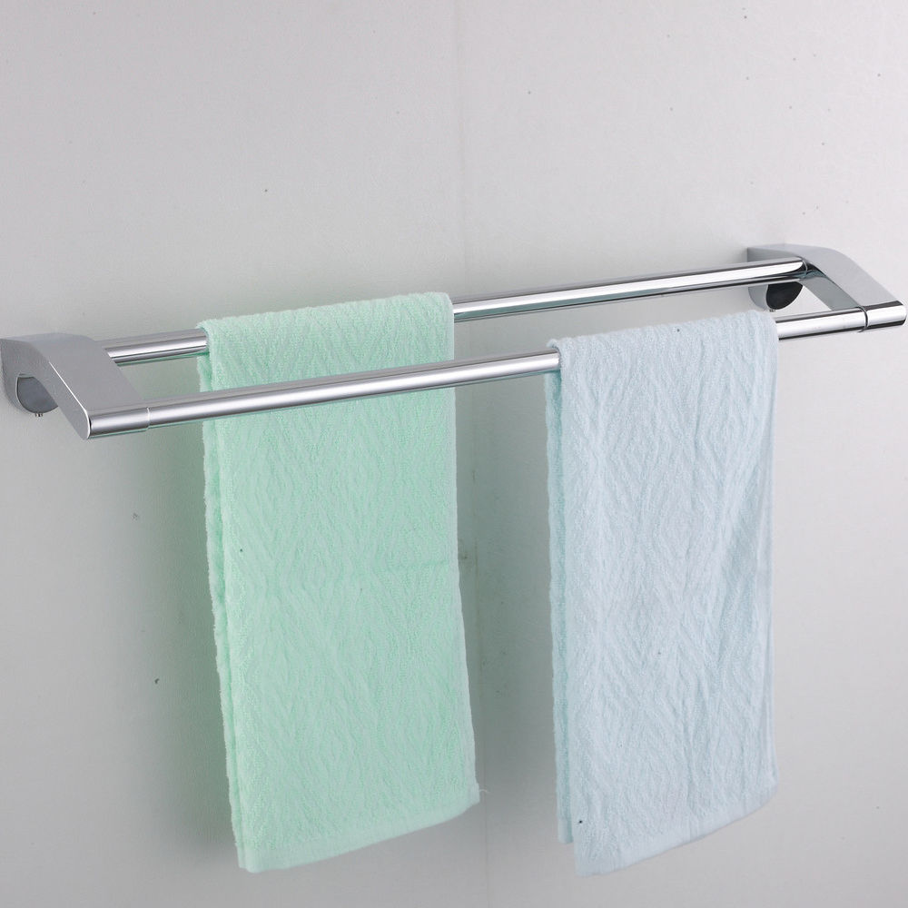 Shop for Wall Chromed Bathroom Towel Rack With Double Towel Bar at ...