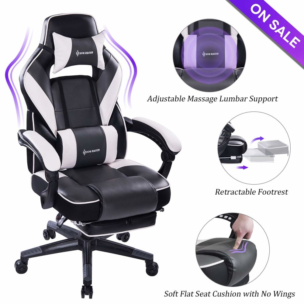 Ergonomic High-Back Leather Gaming Chair