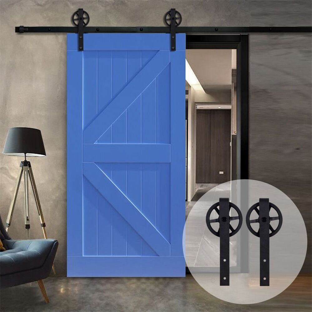 Shop For Vintage Style Strap Industrial Wheel Sliding Barn Wood Door