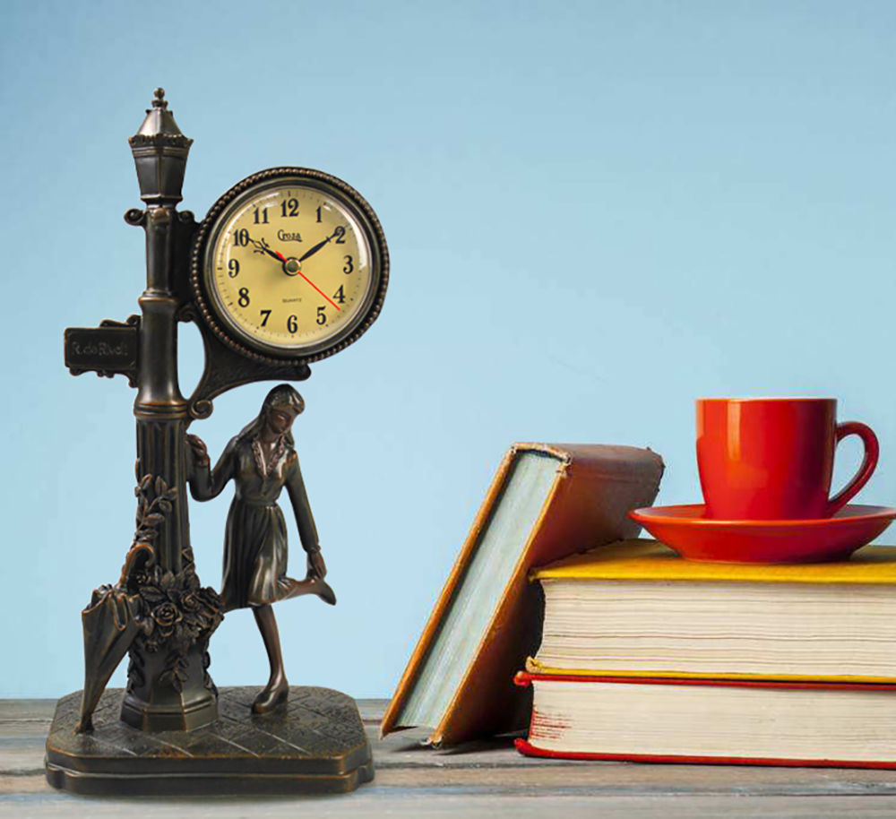 Shop for Antique Retro Decorative Table Mantel Clock, Resin Classic ...