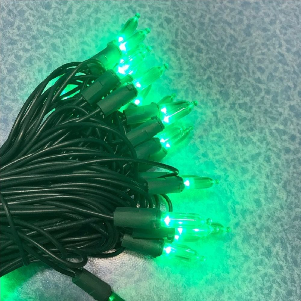 morning star green100 led christmas lights string green wire led with traditional glass look light set high brightness and energy saving