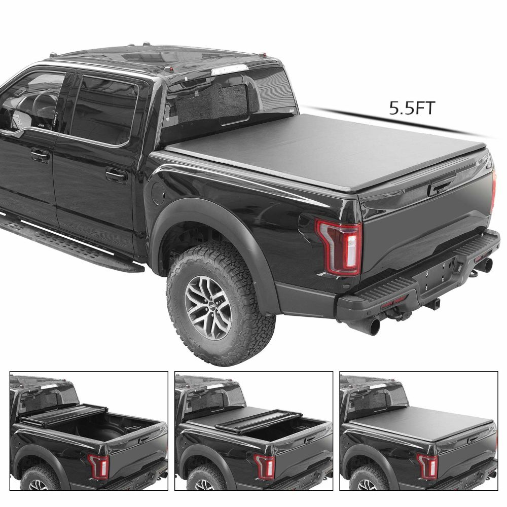 Shop For For 2016 2018 Ford F150 F 150 Soft Tri Fold Tonneau Cover Assemble Truck Pickup Bed 5 5ft 2 Year Warranty At Wholesale Price On Crov Com