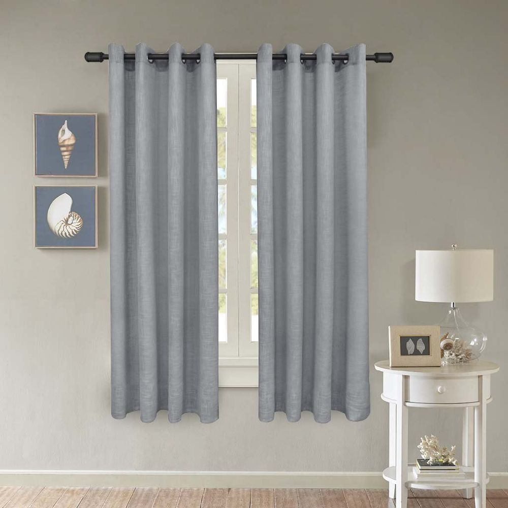 curtains natural faux inch linen buy saida sheer embroidered