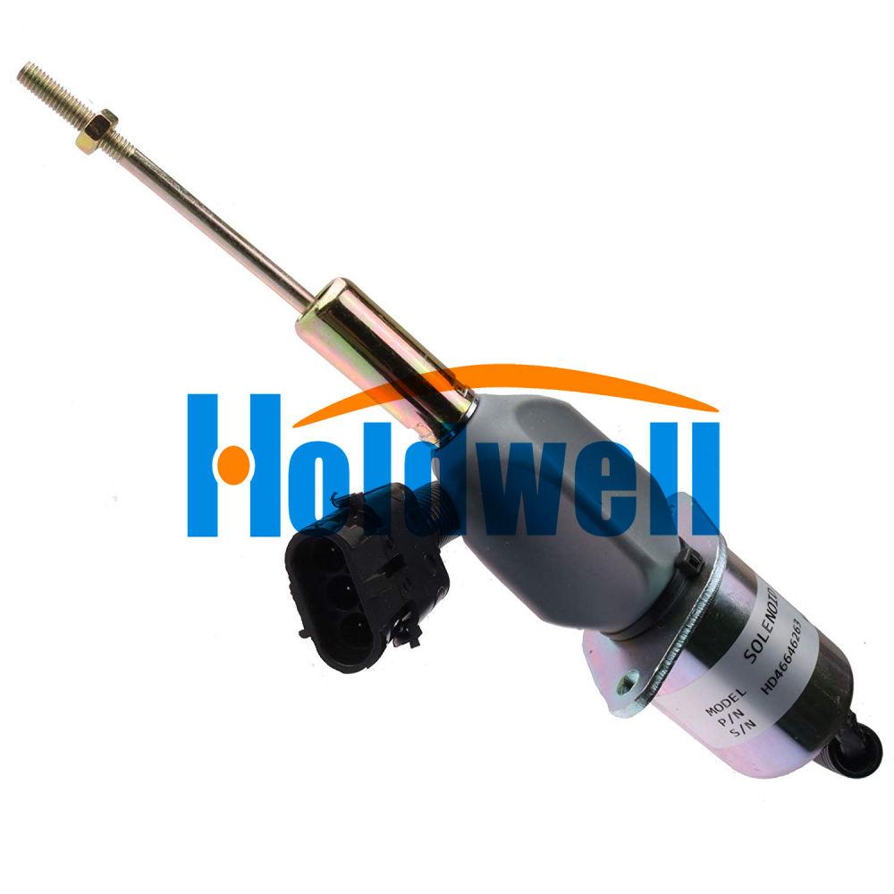 New Fuel Shutoff Solenoid For John Deere 4955 4560 4760 4960 644G RE53507