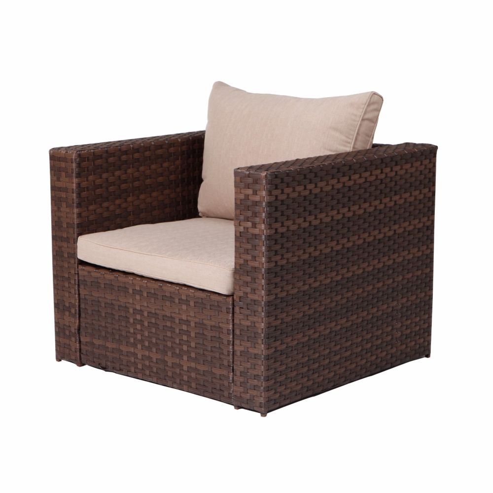 For Grand Patio Deluxe Rattan Furniture Sets 4 Pcs Outdoor Sofa Sectional At The Compeive Price On Crov