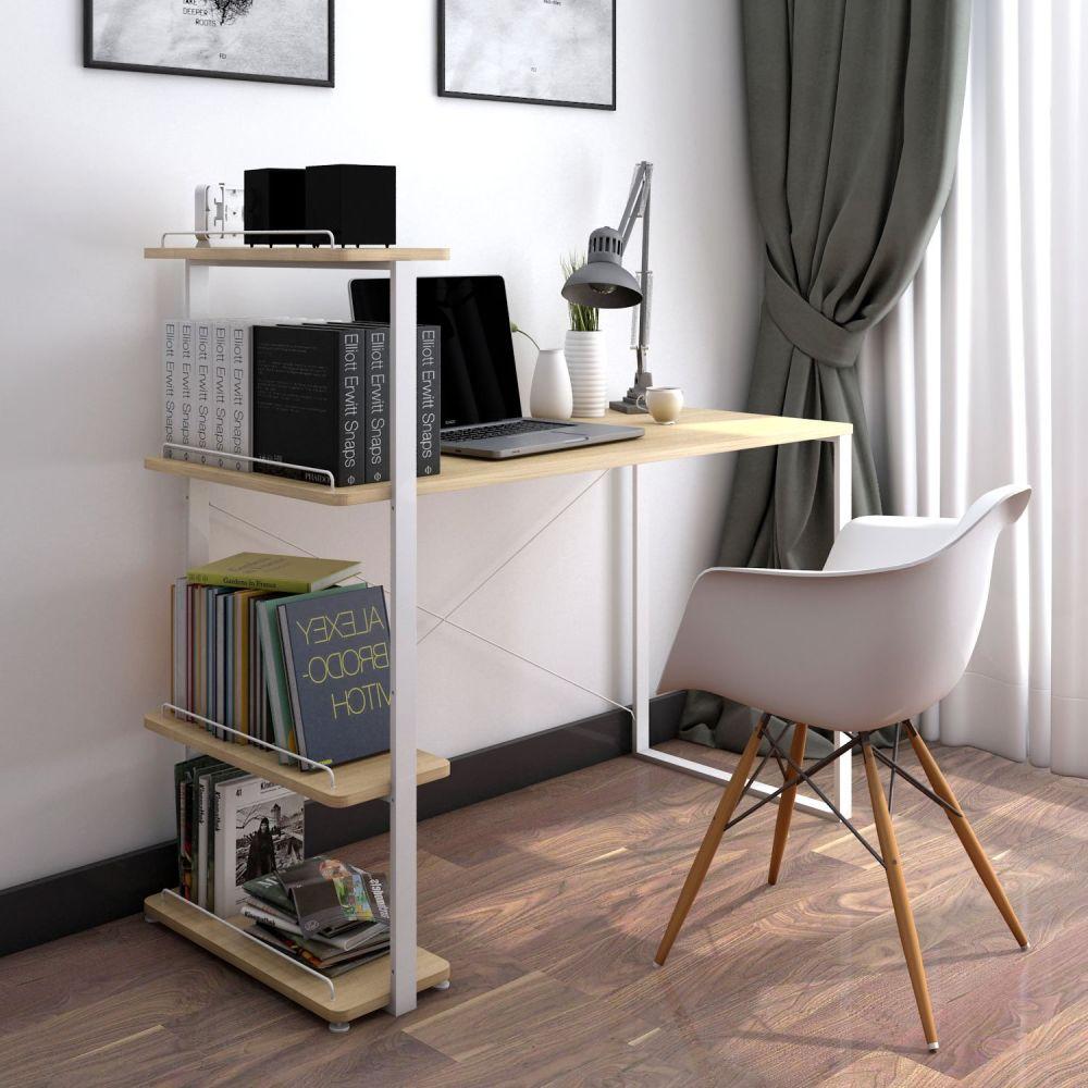 Shop for Lifewit Computer Desk PC Laptop Desk with Bookshelf ...