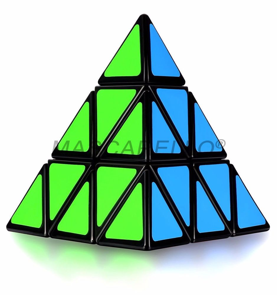 MASCARELLO Pyramid Triangle Magic Speed Cube Pyraminx Twist Puzzle Brain Teaser