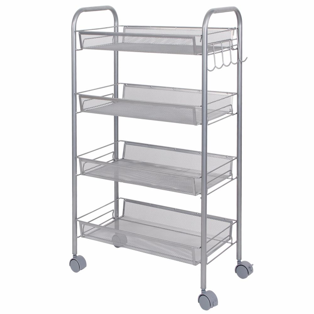 office rolling cart. Shop For Lifewit 4-Tier Kitchen Rolling Cart Trolley Shelf Utility Storage Rack Office At Wholesale Price On Crov.com B