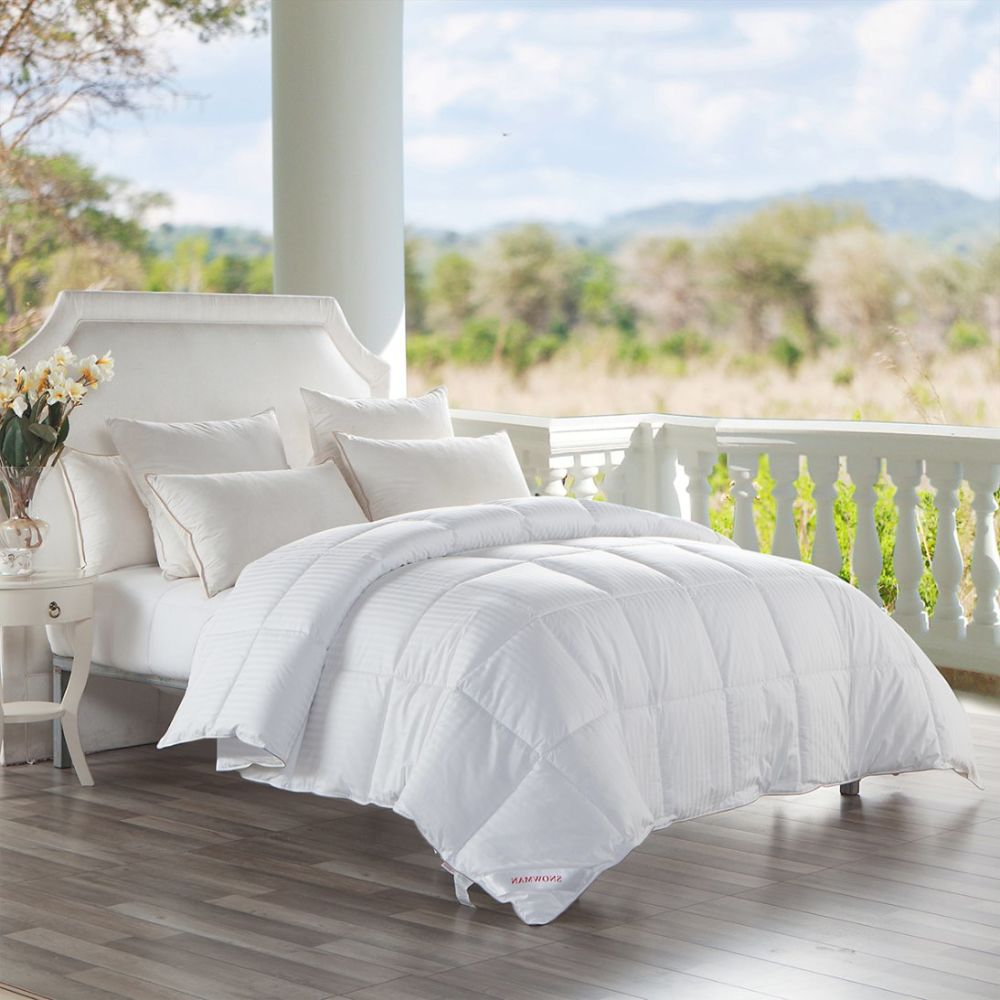 cotton hotel kitchen alternative thread hotels amazon count home king comforter s down dp solid size com royal feather goose tc white